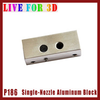 [P186]*** Single Nozzle Aluminum Block Holder of Fixings Feed Throat Tube for 3D Printer Makerbot Extruder Parts