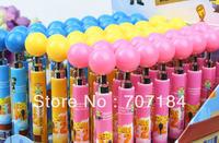 2014 Despicable me /Precious Milk Dad 2   Balloon  shape press ballpoint pen   minions pen   free shipping