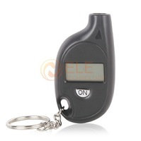 Mini Portable Digital Car Auto LCD Tyre Tire Pressure Gauge Keychain Free Shipping Drop Shipping