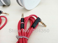 Red 1.2m 3.5mm male to male L Plug Stereo AUX Audio Cable for Monster beats headphone cell phone 50pcs/lot
