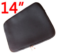 """14 """"& 14.1"""" Laptop Tablet Black Tank With Double Zipper Bag Soft Neoprene Sheath Boxes Bags SBR Diving Material"""