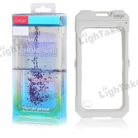 On Sale! iPega 3M Waterproof Protective Hard Bumper Case for iPhone 4G - White