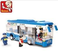 Sluban M38-B0330 235pcs 3D construction eductional plaastic Building Block Sets single-decker bus Children toys Chiristmas Gifts