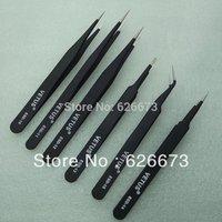 6pcs/lot Different size Vetus ESD Tweezers Tweezer Anti-Static tweezers ESD10 to ESD 15 Free Shipping