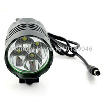 5 Sets/ Lot 4x Cree XM-L XML T6 LED 5200 Lumen Superbright Bicycle Light Lamp HeadLamp Headlight +9600mAh Battery Pack + Charger