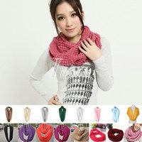 Hot Sale Women's Fashion Colorful Winter Knitting Collar Corn Neck Warmer Scarf