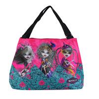 cartoon printing large zip bag for teenagers Mexico brand Dracon hobos Bag , BZ-19, Free shipping