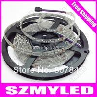 3528 LED Strip Flexible Light 60led/M 5M 300Led Waterproof IP65 DC12V RGB Led Strip Light  7Colors Free shipping