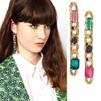 0511 Charm Chain Pattern Drop Earrings New Fashion Statement Earrings