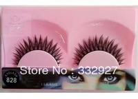 Marlliss wool false eyelashes 828 black cross 10 slender bare makeup box