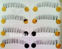 Handmade false eyelashes f-33 transparent natural nude makeup box 10 cross