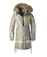2013 real fur coat for women's down jackets winter outdoor clothing parkas overcoat Sanbing brand Long Bear-W 724