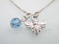 Wholesale Necklaces Silver Chains Bee Necklace Pendants For Women Statement Jewellery