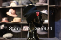 Best wholesale stock! (10 piece a /lot)100%cotton men's beanie in korean  fashion style with tongue image