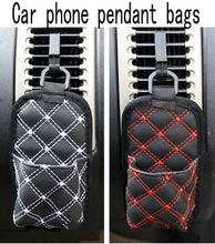 Automotive interior cell phone pocket outlet vent pockets STORAGE CADDY