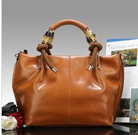 100% Genuine Leather Handbag Women Cowhide Leather Handbag Fashion Wax Oil Shoulder Bag Vintage Totes Women Messenger Bags 2014