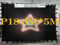 3 mtr x 5 mtr p18,432pce leds,LED Video Curtain Star Cloth Matrix Backdrop RGB