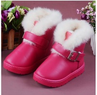2012 child cotton-padded shoes girls boots  short snow boots