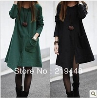 Clothes women's autumn and winter one-piece dress