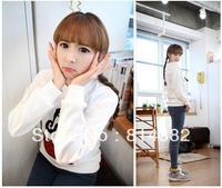 Free Shipping Women Hoodies Sweatshirt Women Cartoon Captain Print O-Neck Long Sleeve Polo Pullovers Cotton Embroidery M~L Plus