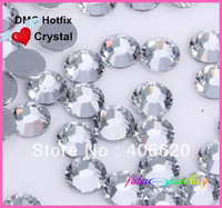 Free Shipping! Crystal clear  COLOR High Quality  DMC Flat back  Hot Fix Crystal Rhinestones Gems SS6 SS10 SS16 SS20 SS30.