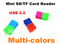 high speed usb 2.0,new wooden style usb card reader for t-flash card  100pcs/lot 4 colors avaliable