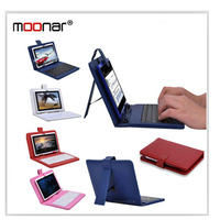 Universal General USB PU Leather Keyboard Case For 7 inch Tablet PC+Stylus Pen (Black/White/Red/Pink/Purple/Brown/Blue) LDA0537
