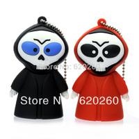 Free shipping  2gb/4gb/8gb/16gb/32gb devils ghost cool usb flash drive cartoon pen drive, Easter skull usb flash drive memory