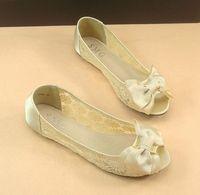 sapatos Sandalias sexy romantic lace bow flat open toe sandals flat heel women's shoes Femininas Rasteirinha Rasteira Chatitas