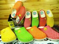 sapatos Sandalias Trend color block flat decoration Women beach hole sandals slippers  Femininas Rasteirinha Rasteira Chatitas