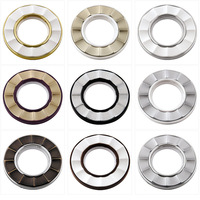 Top grade 9 colors Auto lock large roman rings Nano mute curtain rings hole-digging buckle circles grommets eyelets for curtains
