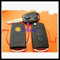 Free shipping for 2 Button blank modified flip folding remote key shell case for Ssangyong Actyon Suc Kyron Rexton   0101423