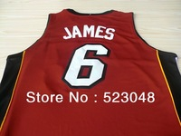 Free shipping!Miami lebron JAMES #6 rev 30 Basketball jersey, Embroidery logos,Size S-XXL,accept mix order AND drop shipping.
