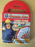 Free shipping Novelty Item fireman sam 11.5cm * 18cm Small Kids Children Drawing Toys Children's educational toy