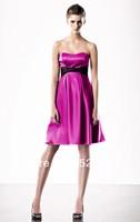 Free Shipping Fuchsia Sheath Short Strapless Cheap Cocktail Dresses 2014