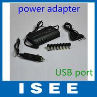 Big sale 100W Laptop Universal AC DC Adapter USB Power Charger EU Plug Notebook Car