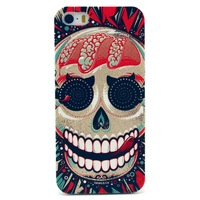 Retail 2014 Newest Flower skull ice cream bear water melon pineapple Cat Elephants Hard back Cover Case For iPhone 5 5G 5S case