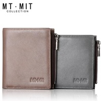 Mt . mit wallet male short design zipper wallet male short design genuine leather wallet male zipper male wallet
