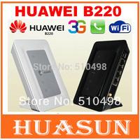 Free shipping Original Unlocked Huawei B220 HSDPA Wireless Gateway 3G WiFi Router with telephone interface