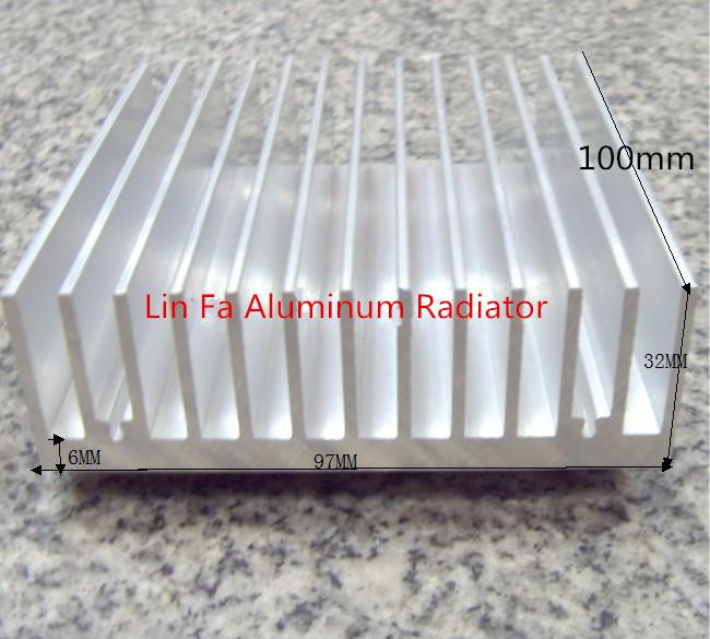 Heat sink/Aluminum radiator/Aluminum/High power computer case radiator high power aluminum radiator 100(L)*97(w)*32(h)(China (Mainland))