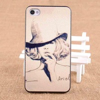 Free Shipping, Fashion Mobile Phone Cases, Dermatoglyph Colour Painting Case For iPhone 4/4s Back Cover , MB804