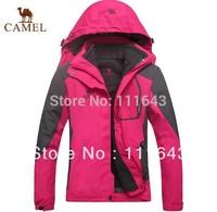 2015 Winter Skiing Jackets Women Camel Brand Outdoor Snowboarding Ski Jacket Waterproof Warm 3in 1 Piece L XL XXL 3XL 4XL