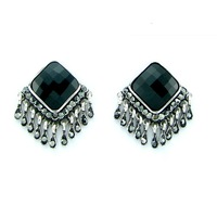 Christmas High Quality Jewelry Fashion 2013 Sexy Tassel Big CC Crystal Stud Earrings for Women Free Shipping