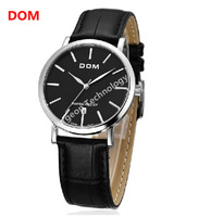 DOM mens watches top brand luxury automatic quartz retro casual elegant Genuine leather strap watches 200M waterproof watch