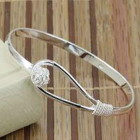 B179 Hot Sell! Wholesale 925 silver bangle bracelet, 925 silver fashion jewelry, Triple Circle heart bangle