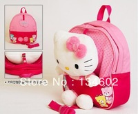 New Trends ! Cute 3D Hello Kitty Toy Baby Bags For Kids Girls .Actical Pink Children Backpack School Bag,High Quality
