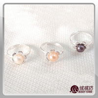 Special wholesale pearl ring LR012 A grade natural freshwater pearl jewelry 50% off the third anniversary celebration
