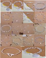A21 // Big promotion popular Free shipping hot sale Bracelets Chain, wholesale fashion 925 jewelry silver plated Bangle Bracelet