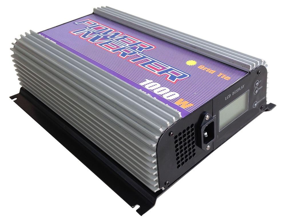 1000W grid tie inverter,power inverter(SUN-1000G-LCD),input voltage 22-60V,output voltage 110V or 230V.(China (Mainland))