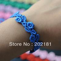 Free shipping Christmas Gift fashion bracelet 2014 Italy lace bracelet italian Hot Selling muti-color ROSE lace bracelet